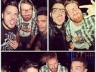 Ex-BBBs Max, Flávio e Ralf curtem noite juntos: 'Careteando'