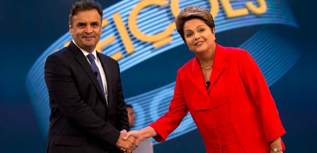 Dilma e A�cio respondem a indecisos e mant�m tom agressivo no �ltimo debate (Dilma e A�cio respondem a indecisos e mant�m tom agressivo no �ltimo debate (Dilma e A�cio respondem a indecisos e mant�m tom agressivo no �ltimo debate (AP)))