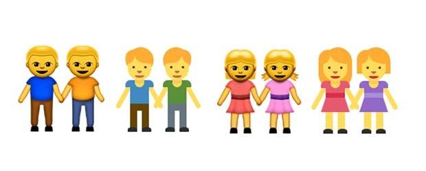 Emojis gays são proibidos na Indonédia (Foto: Reprodução/ Emojipedia)