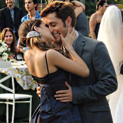 Anna Rita e Cristian Monassa em cena de 'Malhação' (Foto: Arquivo pessoal)