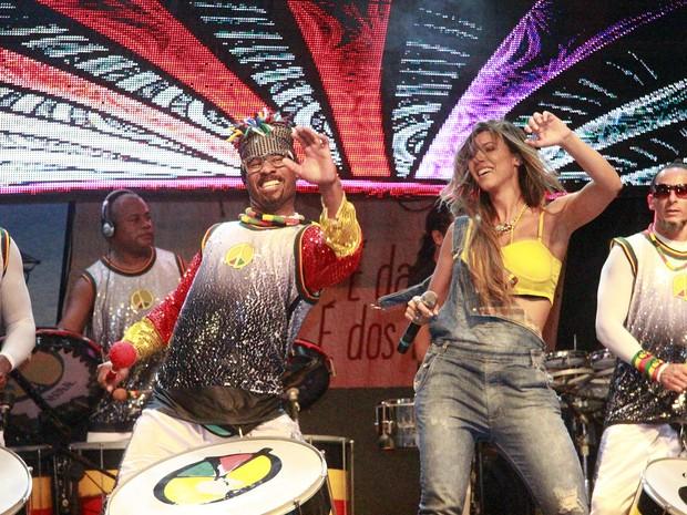 Vina Calmon em show do Olodum em Salvador, na Bahia (Foto: Edgar de Souza/ Divulgação)
