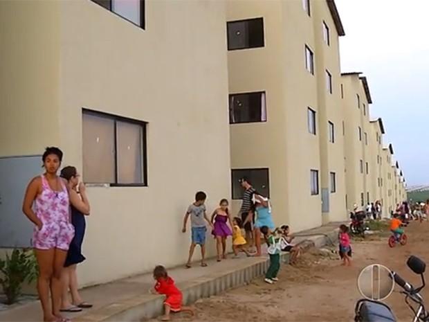 Condomínio foi ocupado na última sexta-feira (17) (Foto: Reprodução/Inter TV Cabugi)