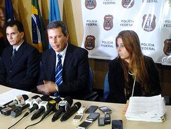 Coletiva Polícia Federal em Cuiabá (Foto: Kelly Martins/G1)