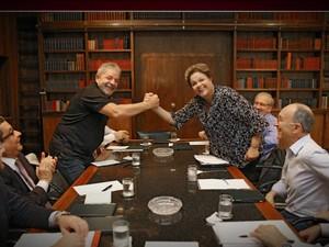 Dilma se reúne com Lula para definir equipe de campanha/GNews (Foto: Reprodução GloboNews)