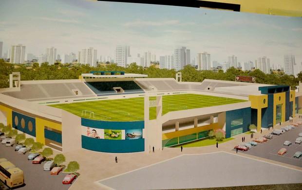 Projeção do novo Estádio Nogueirão, em Mossoró (Foto: Carlos Costa/Divulgação)