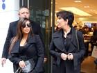 Na reta final da gravidez, Kim Kardashian vai com a mãe a Paris