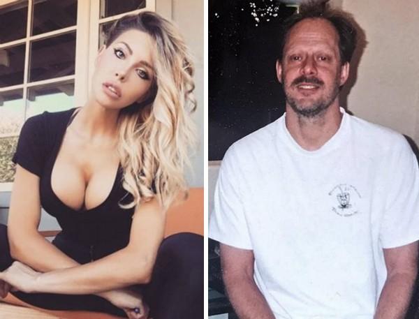 A celebridade Chloe Lattanzi e o atirador Stephen Paddock (Foto: Instagram/Reprodução)