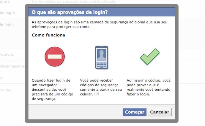 Verificação em duas etapas leva mais segurança para seu acesso (Foto: Divulgação\Facebook)