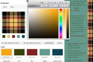 Esquema de cores do Twitter