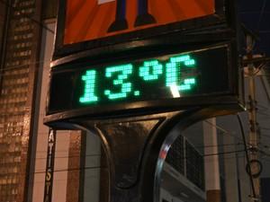 Temperatura real chegou a 13º  (Foto: Anderson Oliveira / Blog do Anderson)