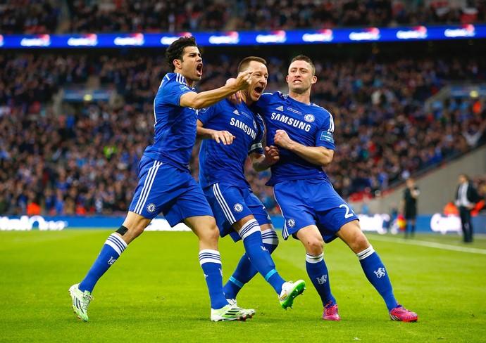Terry comemoração, Chelsea x Tottenham (Foto: Clive Rose / Getty Images)