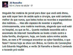 Zé Ramalho (Foto: Reprodução/Facebook)