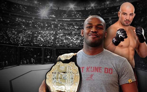 carrossel UFC Glover Teixeira e Jon Jones (Foto: Editoria de arte / Globoesporte.com)