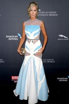 Lady Victoria Hervey em premiação em Los Angeles, nos Estados Unidos (Foto: Frederick M. Brown/ Getty Images/ AFP)