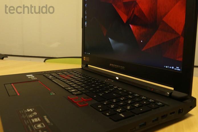Acer Predator 17 (Foto: Caio Bersot/TechTudo)