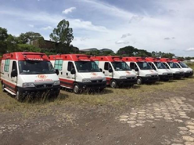 Samu contará com 24 ambulâncias do tipo Unidade de Suporte Básico (UBS) (Foto: José Márcio/Divulgação)