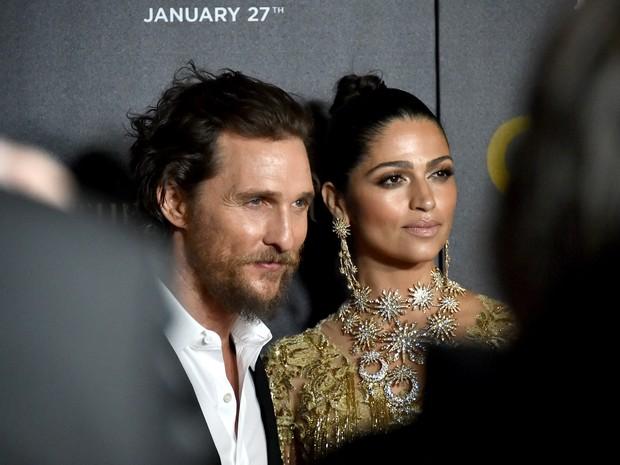 Matthew McConaughey e Camila Alves em première de filme em Nova York, nos Estados Unidos (Foto: Mike Coppola/ Getty Images/ AFP)