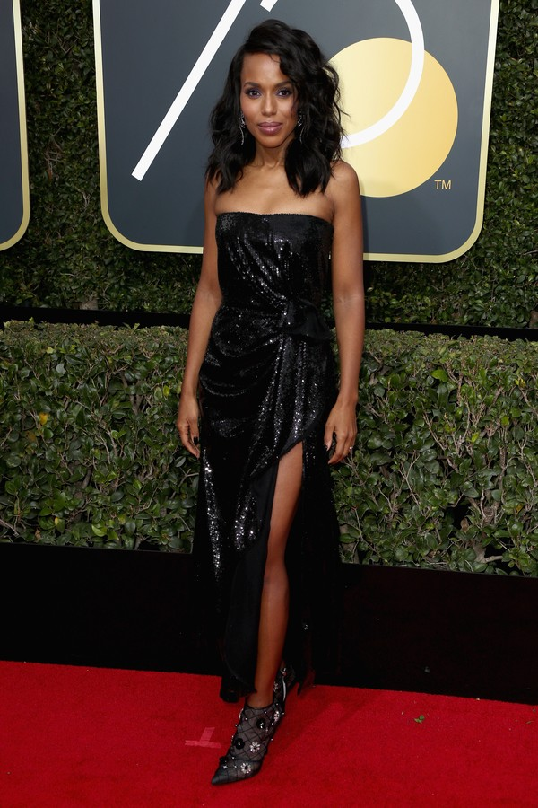 BEVERLY HILLS, CA - JANUARY 07:  Kerry Washington attends The 75th Annual Golden Globe Awards at The Beverly Hilton Hotel on January 7, 2018 in Beverly Hills, California.  (Photo by Frederick M. Brown/Getty Images) (Foto: Getty Images)