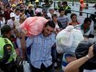Mais de 100 mil venezuelanos cruzaram a fronteira no fim de semana