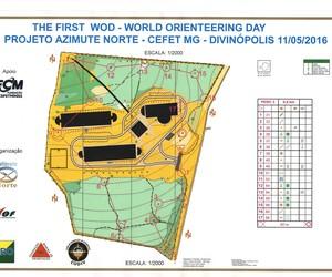 Mapa de orientação em Divinópolis (Foto: Codiv/Divulgação)