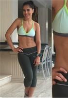 Camilla Camargo perde 3,5kg em um mês e mostra abdômen trincado