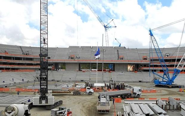 obras estádio Arena Pernambuco Copa do Mundo 2014 (Foto: Arena)