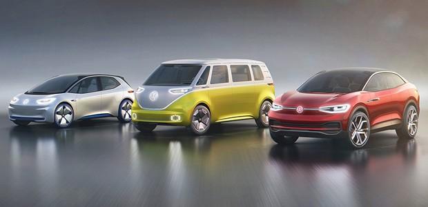 Família I.D: novo linha de carros elétricos da Volkswagen (Foto: Divulgação)