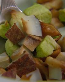 Snack de coco, maçã e chuchu