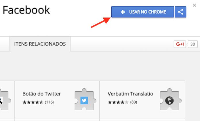 Opção para preparar o download da extensão Fave que duplica o feed do Facebook no Google Chrome (Foto: Reprodução/Marvin Costa)