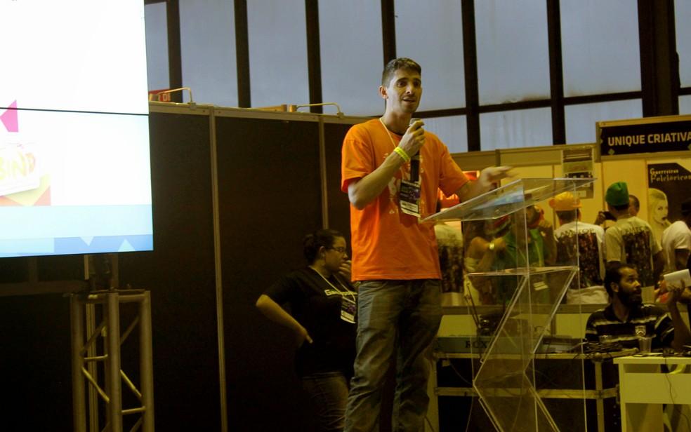 Victor Cardozo foi o responsável por organizar a área GP-DEV, na edição deste ano do Gamepólitan (Foto: Victor Cardozo/Arquivo pessoal)