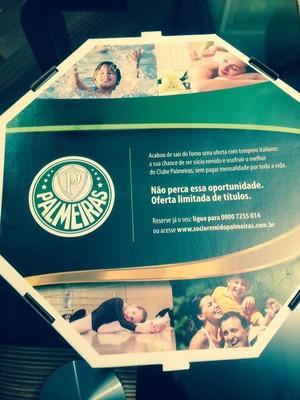 Pizza Palmeiras (Foto: GloboEsporte.com)