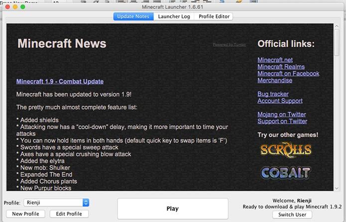 Editar o perfil para conectar em Minecraft (Foto: Reprodução/Felipe Vinha)