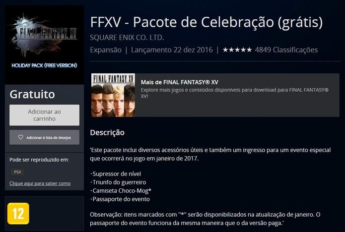 Baixe o DLC na PlayStation Store para ter acesso ao festival (Reprodução/Cássio Barbosa)