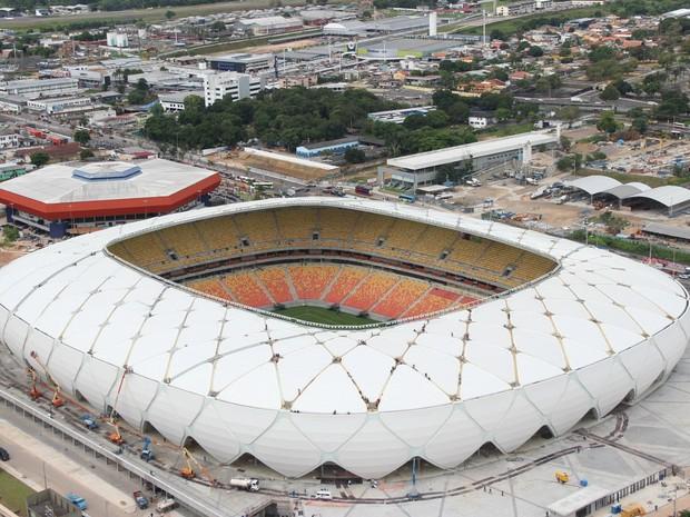 Arena deve receber cerca de 20 mil pessoas neste domingo (8) (Foto: Diego Toledano/G1 AM)