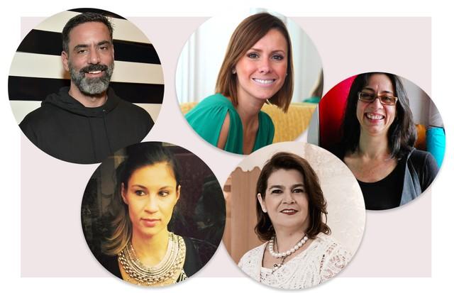 .Marcelo Sommer, Joice Stolnberger, Monica Salgado, Martha Medeiros e Lu Bueno (Foto: Reprodução/Instagram)