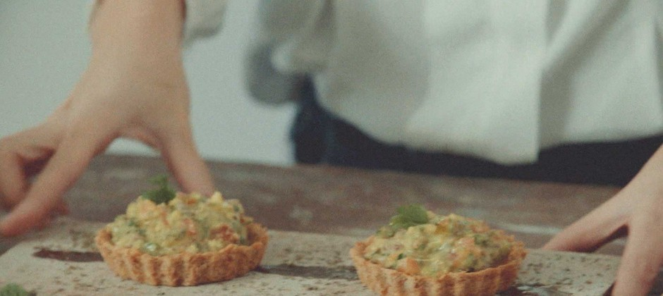 tortinha de guacamole vegana
