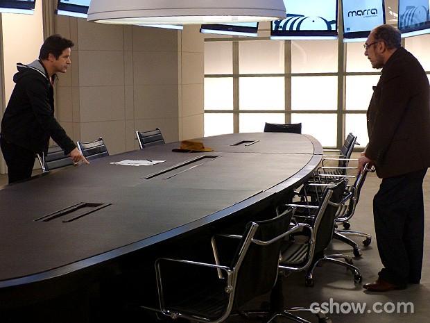 Jack e Jonas discutem feio depois de reunião de acionistas (Foto: Geração Brasil / TV Globo)