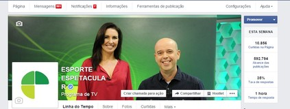Facebook do Esporte Espetacular, interaja por aqui (Reprodução TV Globo)