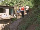 Deslizamento de barreira destrói parede de imóvel no Cabo, PE