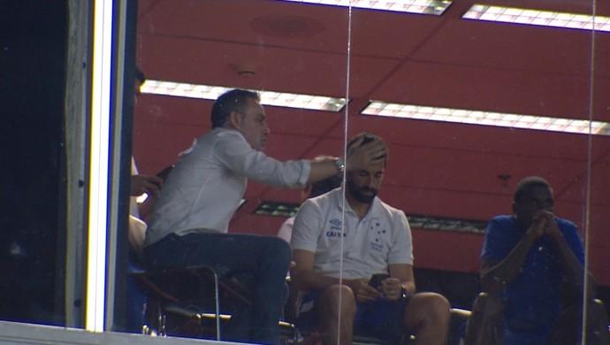 Paulo Bento Cruzeiro; Mané Garrincha (Foto: Reprodução/ TV Globo Minas)