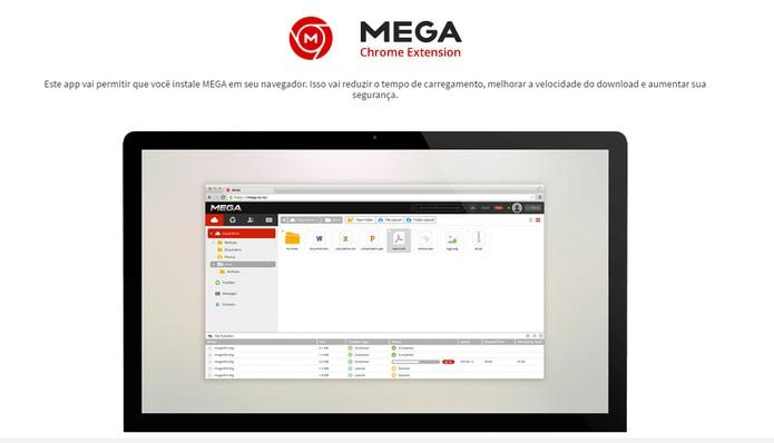 Adicione extensões no navegador, apps no celular e baixe softwares para computador do Mega (Foto: Reprodução/Barbara Mannara)