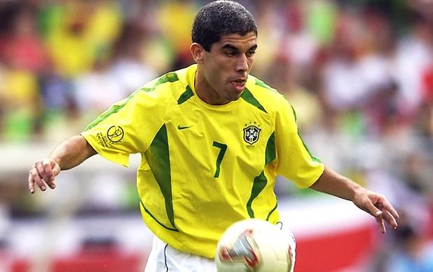 Ricardinho, Seleção Brasileira, Copa do Mundo 2002 (Foto: Agência Getty Images)