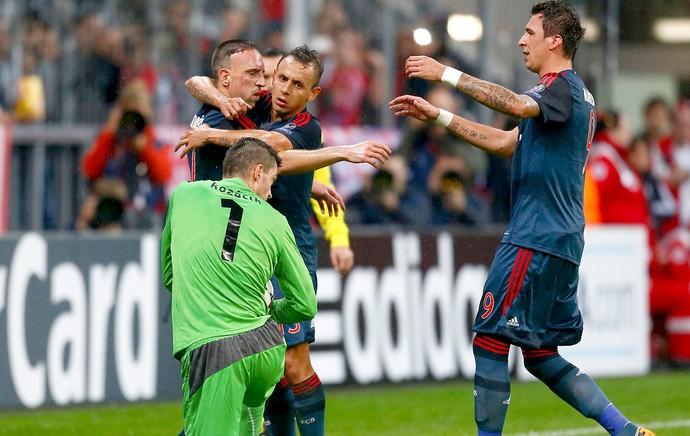 Ribery comemoração Bayern de Munique contra Viktoria Liga dos Campeões (Foto: Reuters)