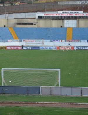 Estádio Municipal de Varginha, o Melão (Foto: Régis Melo)