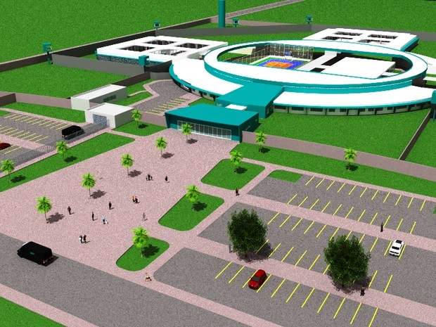 Projeto leva em conta amplo estacionamento e privelegia espaços para visitação (Foto: Divulgação)