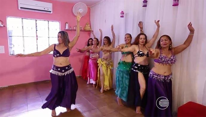 Projeto 'Mama que dança' resgata a autoestima de pacientes com câncer (Foto: Reprodução/Rede Clube)