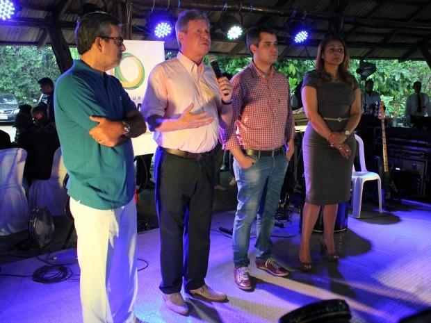 Lançamento da programação do aniversário de 344 anos de Manaus (Foto: Adneison Severiano G1/AM)