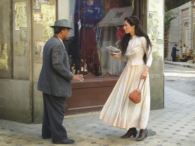 Afonso e Isabel (Foto: Lado a Lado/TV Globo)