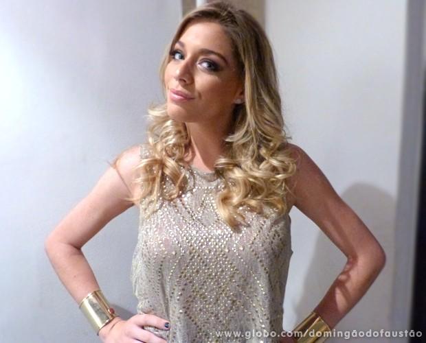 Luma Costa (Foto: Domingão do Faustão / TV Globo)