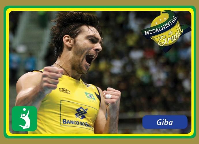 Medalhistas do Brasil card Giba (Foto: Reprodução)